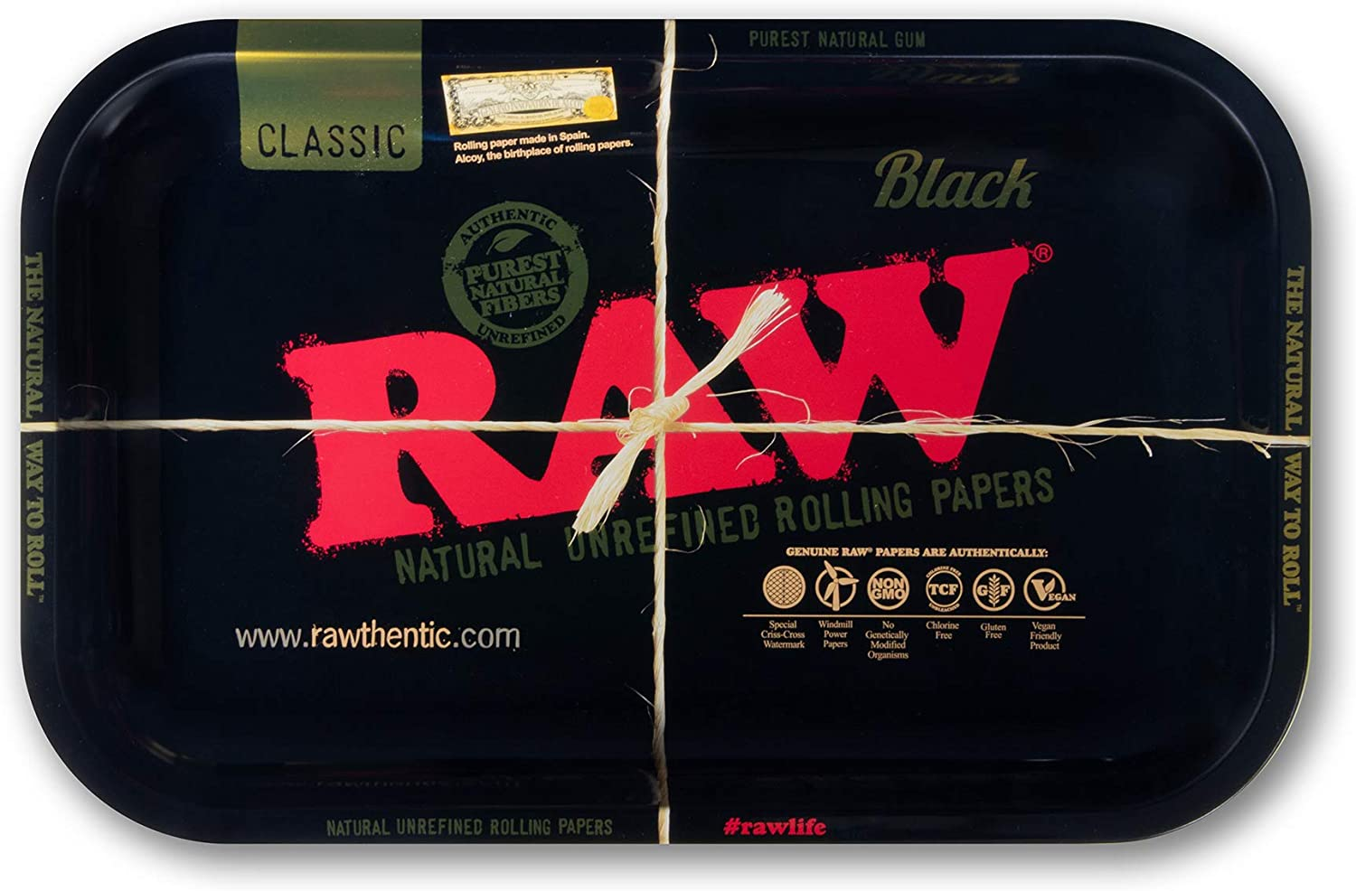 5 popular RAW Black Rolling Tray Size - Made wit 5 ☆ popular Small Finish Enhanced