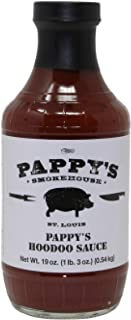 Pappy's Smokehouse Hoodoo BBQ Sauce, 19 Ounce, Memphis Style Barbecue From The Best St. Louis BBQ Restaurant
