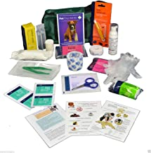 Warwick Whelping Boxes Pet First Aid Kit Comprehensive with paw print bandage and 50ml Hand sanitiser foamer CPR guide and Toxic foods leaflets included