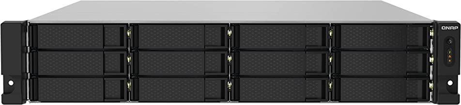QNAP TS-1232PXU-RP-4G 12 Bay High-Speed SMB Rackmount NAS with Two 10GbE and 2.5GbE Ports, Redundant PSU