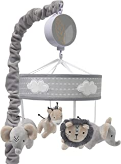 Best Lambs & Ivy Jungle Safari Musical Baby Crib Mobile - Gray, Beige, White, Animals Review