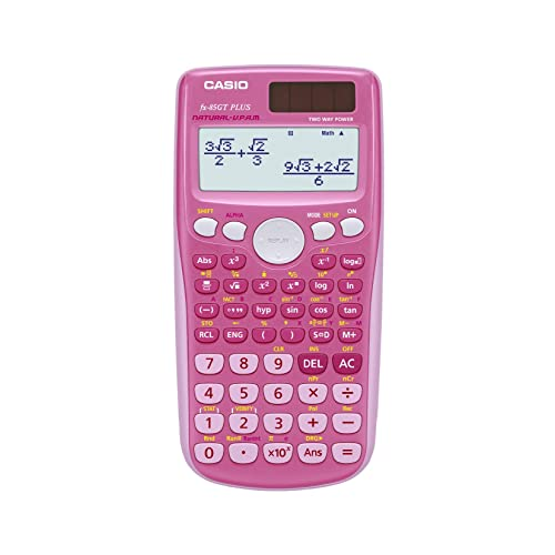 Casio FX-85GTPLUSPK Scientific Calculator, Pink (Old model) replaced by the new FX-85GTX Pink