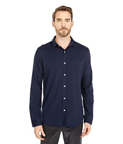 Nautica Long Sleeve Woven Shirt (Navy) Men