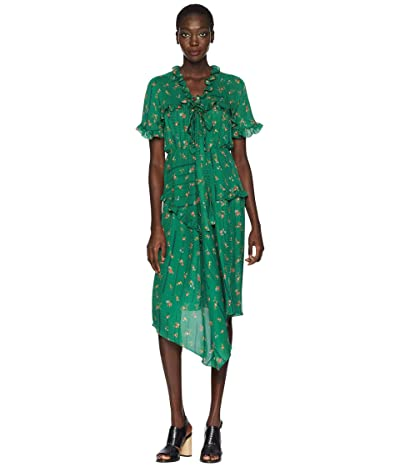 Preen by Thornton Bregazzi Georgi Dress (Green Etched Floral) Women