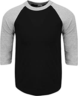 efe27a37d4 Shaka Wear Mens Baseball T Shirts Raglan 3/4 Sleeves Tee Cotton Jersey S-