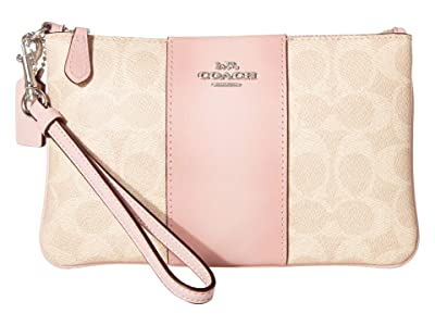 COACH Small Wristlet (LH/Sand Aurora) Handbags