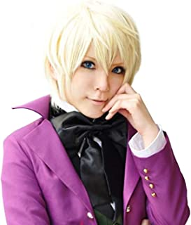 BE ANOTHER YOURSELF  Black Butler Alois Trancy Men's Short Straight Anime Cosplay Costume Full Wig