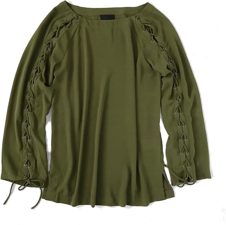 Greylin Women's LaceTie Long Sleeve Blouse
