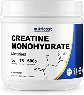 Nutricost Creatine Monohydrate (500 Grams) (Fruit Punch)