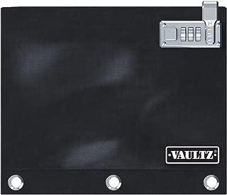Vaultz Locking Binder Pouch, 8 x 10 Inches, Black (VZ00476)