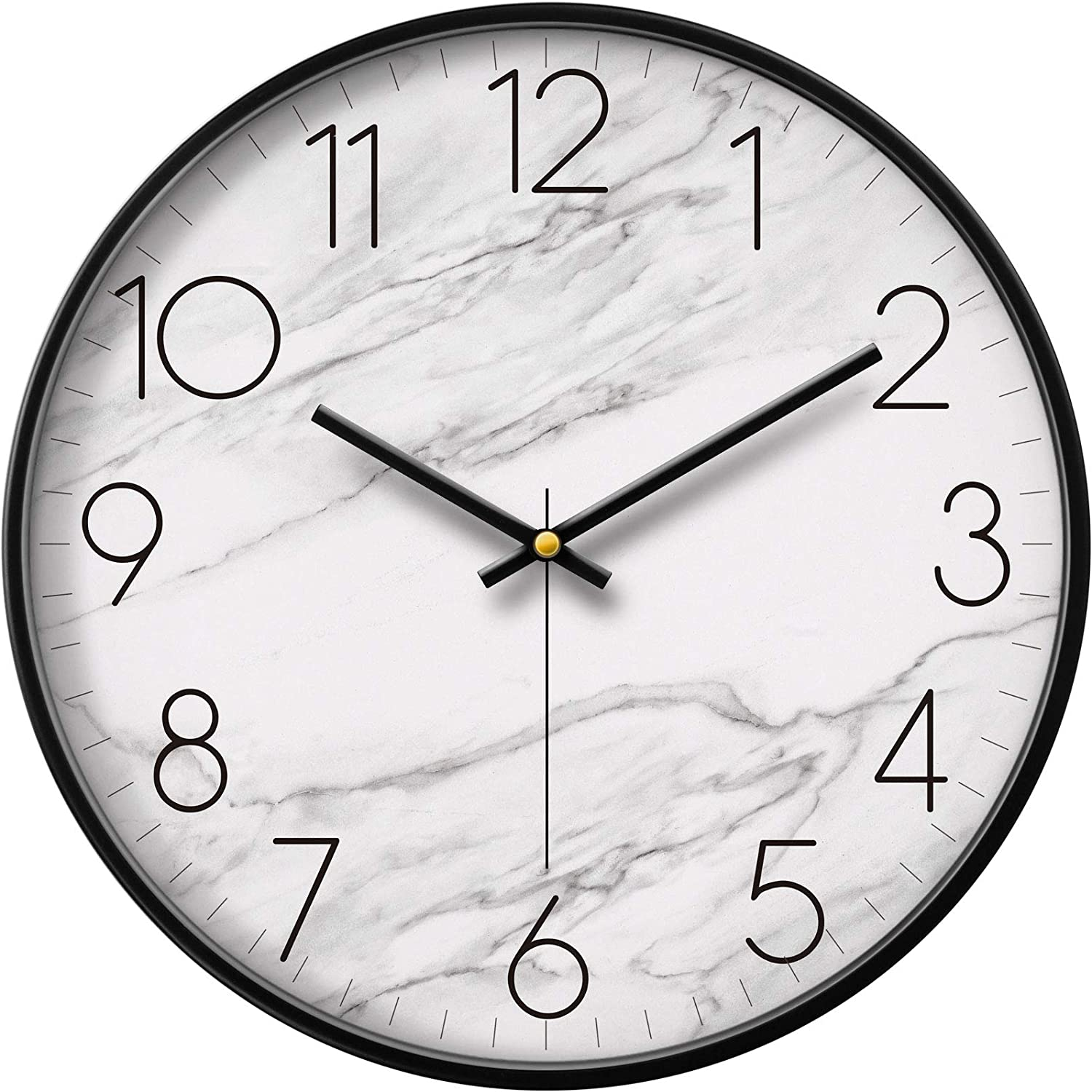 Extra Large Modern White 1 year warranty Free shipping on posting reviews Marble Decor Silent Cool Dec Wall Clock