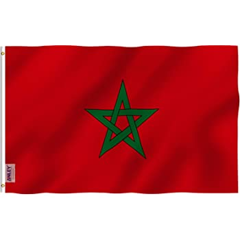 3-Pack Morocco Flag 3x5 FT Polyester Indoor Outdoor Moroccan Flag Banner
