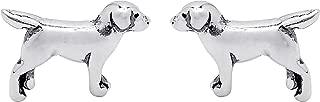 Jewelry Sterling Silver Labrador Retriever Dog Stud Earrings