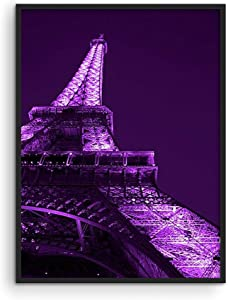 Haus and Hues Purple Wall Art & Paris Wall Decor for Bedroom - Paris Wall Art & Aesthetic Posters for Bedroom Paris Posters for Teens & Purple Wall Decor for Bedroom Teen Girl UNFRAMED 12