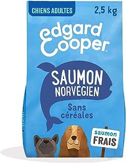 Edgard & Cooper Croquettes Chien Adulte sans Cereales Nourriture Naturelle 2.5kg Saumon Frais Hypoallergénique, Alimentati...