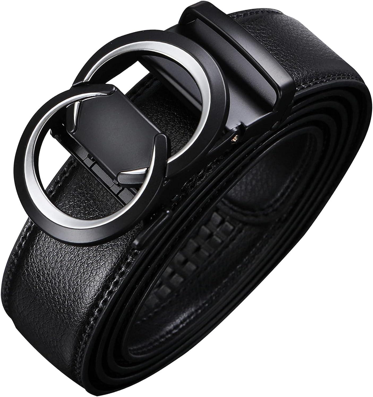 Men's Belt,Civantiya Genuine Leather Ratchet Dress Suit G Belt With Automatic Slide Buckle Belt,Elegant Gift Box