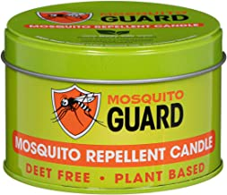 Mosquito Guard Repellent Candle (12 oz) Made with Natural Plant Based Ingredients - Citronella, Lemongrass, Rosemary, Ceda...