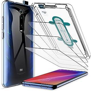 LK Protector de Pantalla para Xiaomi Mi 9T/ 9T Pro Cristal Templado [3 Pack] + 1*Xiaomi Mi 9T/ 9T Pro TPU Silicona Funda Transparente + Kit de Instalación Incluido