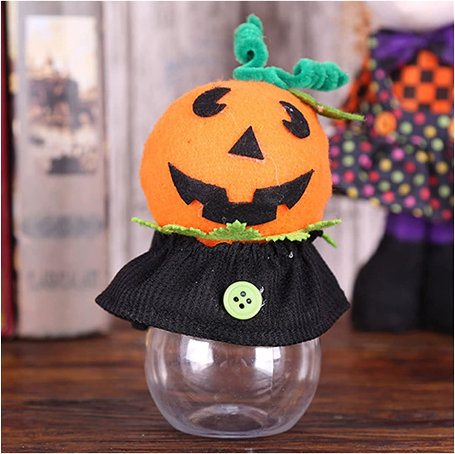 LAXH 40% OFF Cheap Sale Halloween Decorations Cookie Trans Trumpet Jars New color