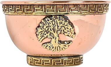 """Tree of Life Copper Offering Bowl 3"""", Great for Altar use, Ritual use, Incense Burner, smudging Bowl, Decoration Bowl, of"""
