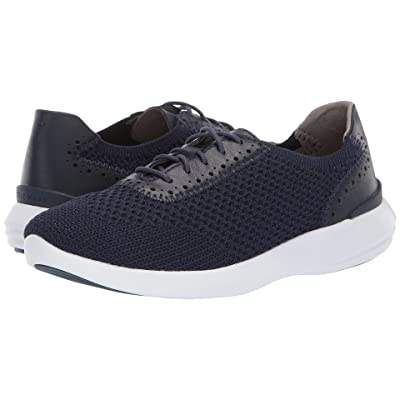 Cole Haan 2.0 Ella Grand Knit Oxford (Marine Blue Knit/Leather/Optic White) Women