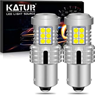 KATUR BAU15S PY21W 7507 LED Bulbs Super Bright 12pcs 3030 & 8pcs 3020 Chips Canbus Error Free Replace for Turn Signal Reverse Brake Tail Stop Parking RV Lights,Xenon White(Pack of 2)