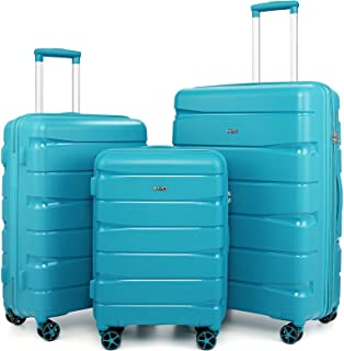 """COOLIFE luggage Expandable(only 28"""") suitcase 3 piece set PP material with TSA Lock Spinner carry on Hard- side 20in24in28..."""