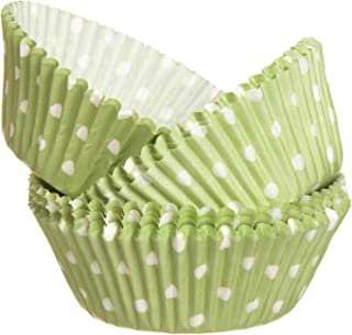 Wilton Standard Baking Cups 75-Pack Dots, Green