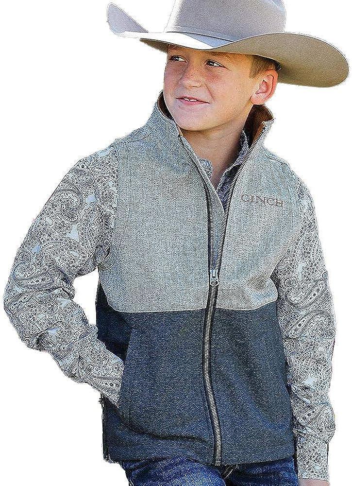 Cinch Boys Multi Color Blocked Textured Bonded Vest