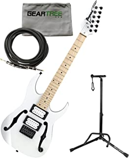 Ibanez PGMM31WH Paul Gilbert Signature MIKRO Electric Guitar (White) w/Geartree