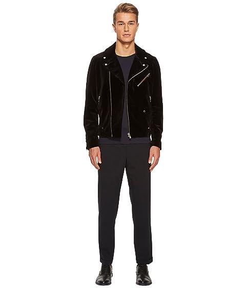 cremallera de negra Kooples con terciopelo La chaqueta xqnvC88z