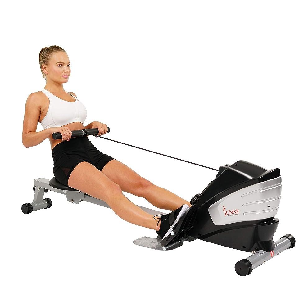 グリルディスコ仕方Sunny Health & Fitness sf-rw5622デュアル関数磁気RowingマシンRower W/LCDモニター