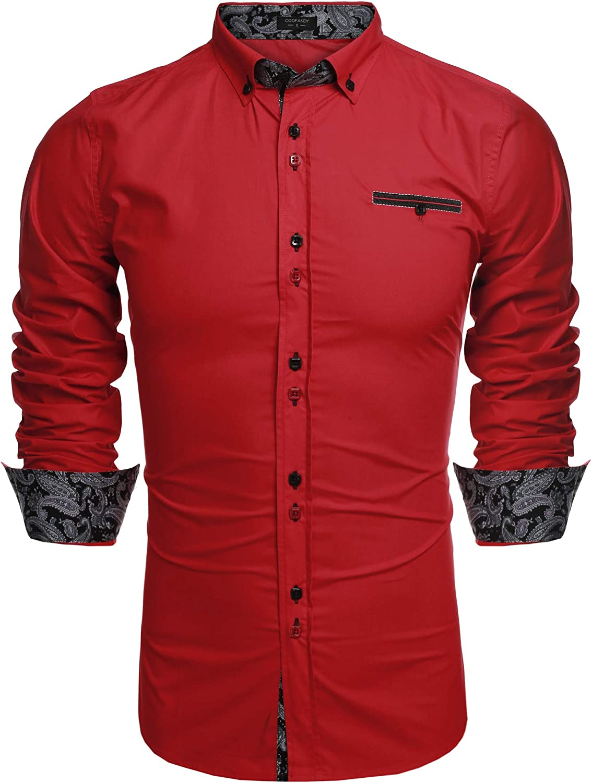 COOFANDY Men's Dress Shirt Long Sleeve Casual Button Down Shirts