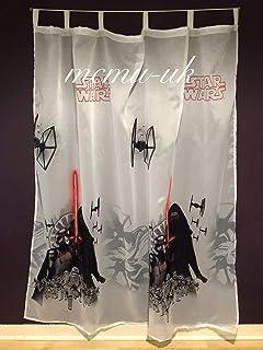 B 55 x L 39 Lichtblock-Vorhang Star Wars The Last Jedi f/ür Jungen Wohnzimmer isolierend solide Stange Taschen Vorh/änge