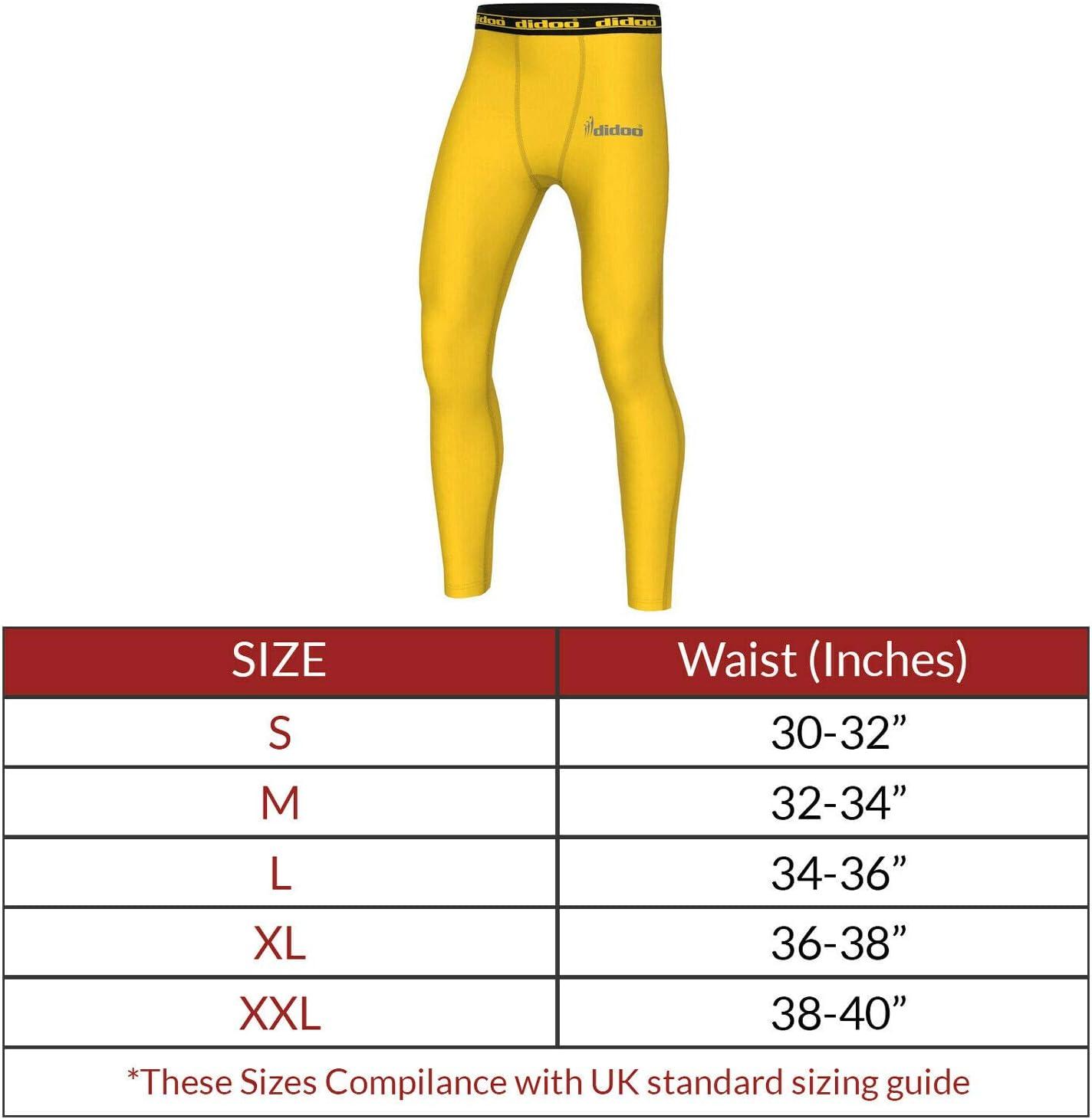 Ext/érieur Didoo Compression Pantalon Hommes Course Athl/étisme Collant Fitness Couches de Base Leggings Long Pantalons pour Le Sport