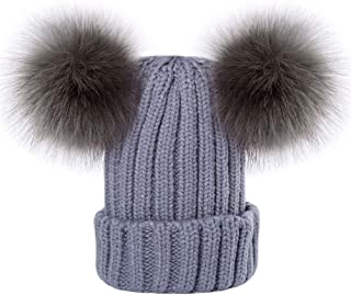 raccoon bobble hat