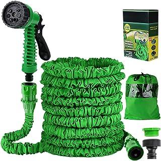 Liwiner 1 Garden 100FT 3 Times Expanding Flexible Magic Lightweight Hose Pipes Reel with 7 Prayer Gun for Washing Car/Wate...