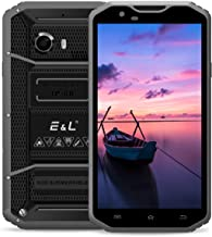 EL W8 4G LTE Rugged Smartphone Unlocked IP68 Wateproof Dustproof Shockproof 5.5 Inch 16GB/2GB Android 6.0 Camera 8.0MP Unlocked Military Grade GSM Cellphone (Gray)