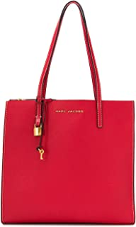 The Grind Shopper Leather Tote Bag, Red