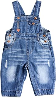 Baby & Little Boy/Girl Soft Washed Denim Bib Overalls (Various Styles)