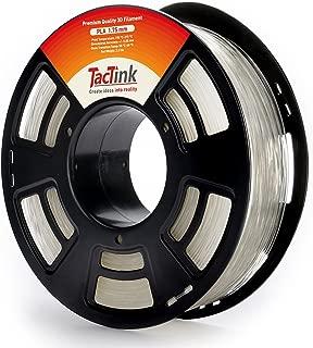 Tactink 3D Printer Filament, PLA Filament 1.75mm, 1 kg Spool (2.2LBS), Dimensional Accuracy +/- 0.03 mm, Clear