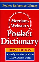 top 10 english dictionary book Merriam-Webster Pocket Dictionary, latest version