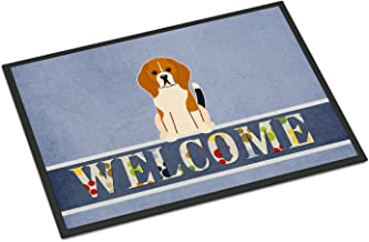 Caroline's Treasures Merry Christmas Carolers Airedale Indoor or Outdoor Mat 18x27 BB2372MAT 18 x 27 Multicolor, Welcome, ...