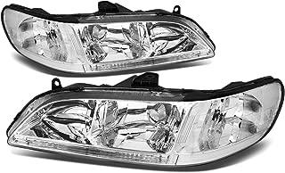 For Honda Accord CG Pair of Chrome Housing Clear Corner Headlight Lamp