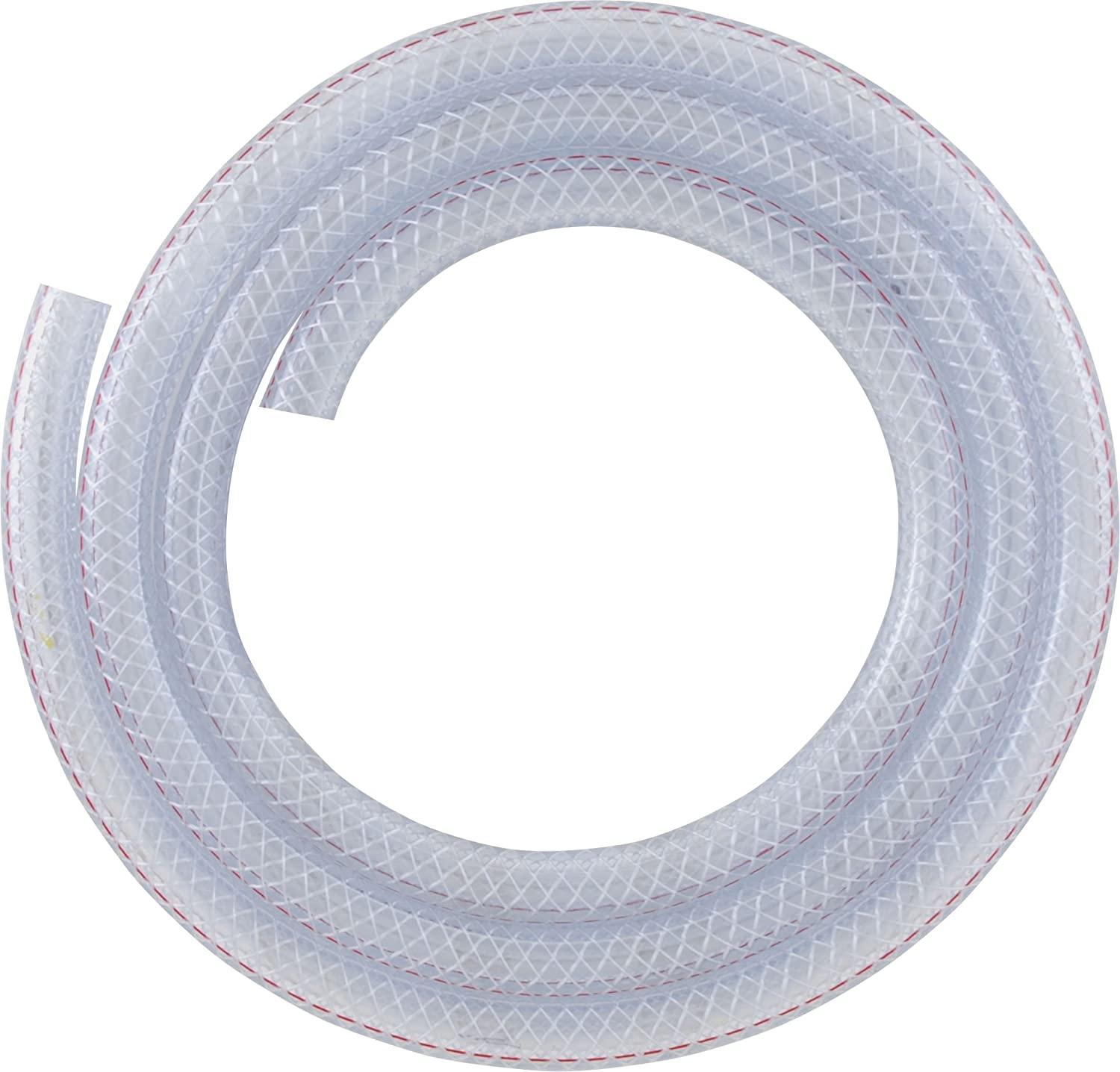 Au. 51mm ID 3 Metre Length Clear Braided PVC Hose With Synthetic Reinforment