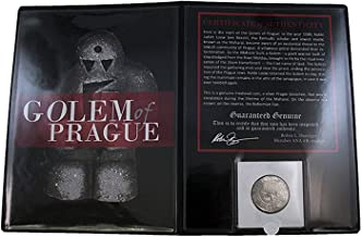 GOLEM OF PRAGUE COIN FOLDER - Authentic Medieval Silver Prager Groschen Coin that was in Circulation During the time of The Maharal, the Creator of the Golem - Comes in folder with Certificate of Authenticity