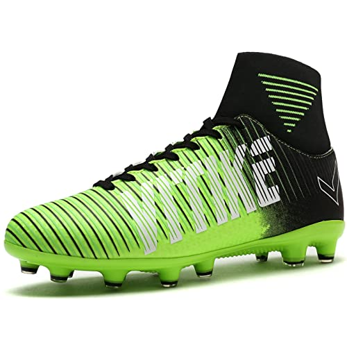 c6c502885e10 VITIKE Soccer Shoes Cleats High-top Sock Ankle Care Performance Football  Cleats Shoes