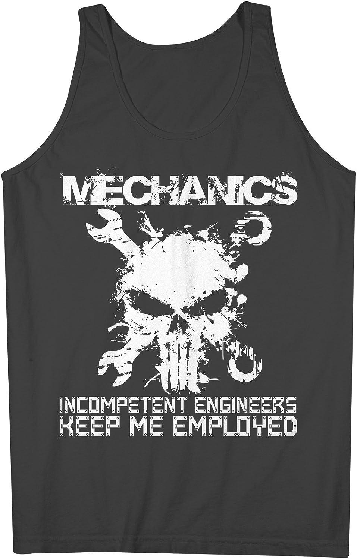 Mechanics Incompetent Engineers Keep Me Employed Mechanic 男性用 Tank Top Sleeveless Shirt