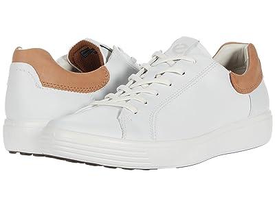ECCO Soft 7 Street Sneaker (White/Cashmere) Men