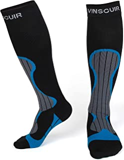 Vinsguir Compression Socks (20-30mmHg) for Men & Women, Best For Running, Athletic, Medical, Pregnancy and Travel